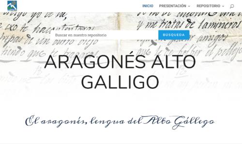 En esa imagen se presenta la portada de la web www.aragonesaltogalligo.co